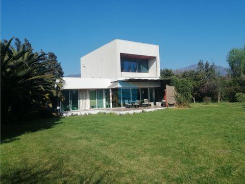 vendo casa mediterranea en hermosa parcela isla de maipo