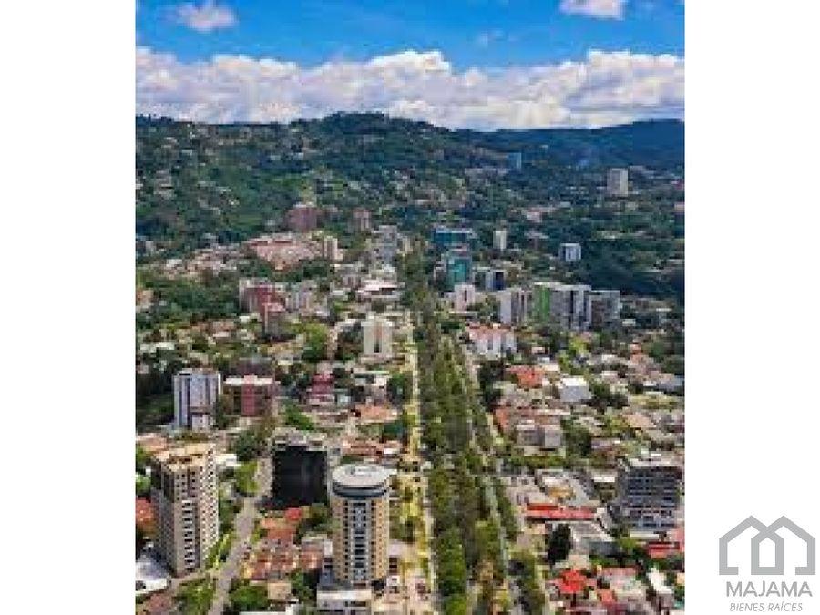 zona 15 vista hermosa ii vendo propiedad para desarrollo
