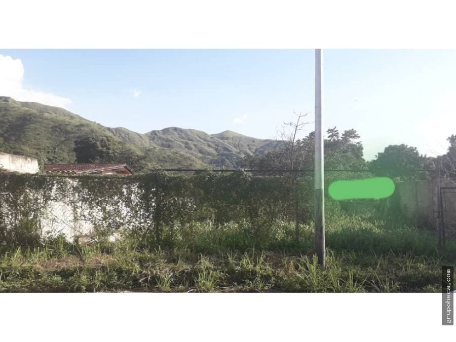 terreno en palmarito urbanizacion el castano maracay