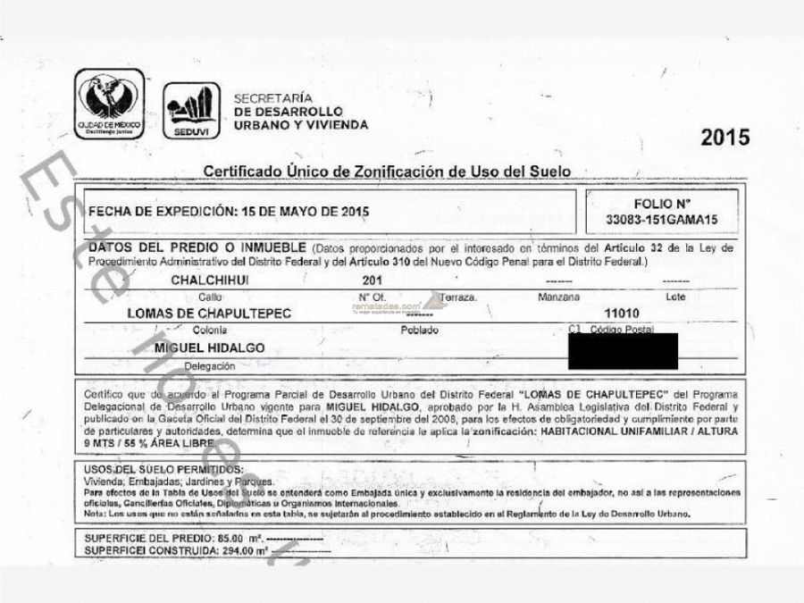 departamento en lomas de chapultepec mx20 iv3034