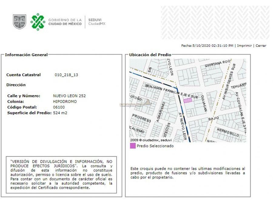 departamento en hipodromo mx20 je9609