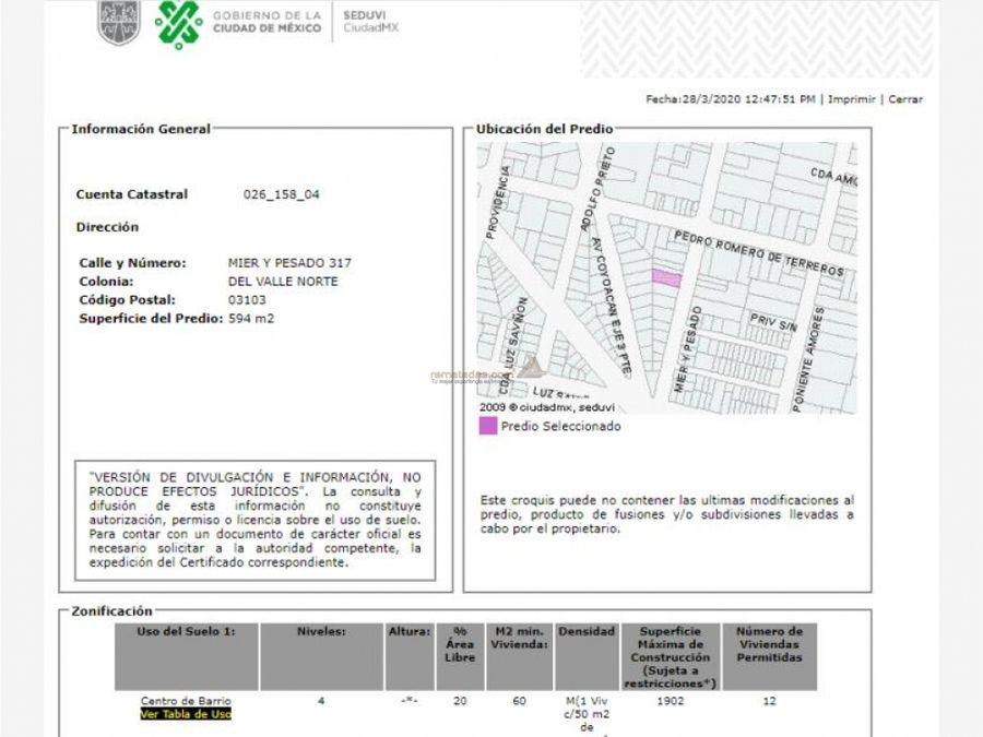 departamento en del valle centro mx20 ia8831