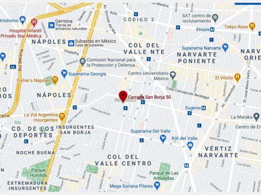 departamento en del valle centro mx20 jf1199