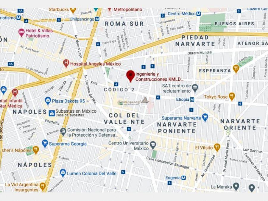 departamento en del valle norte mx20 jf0908