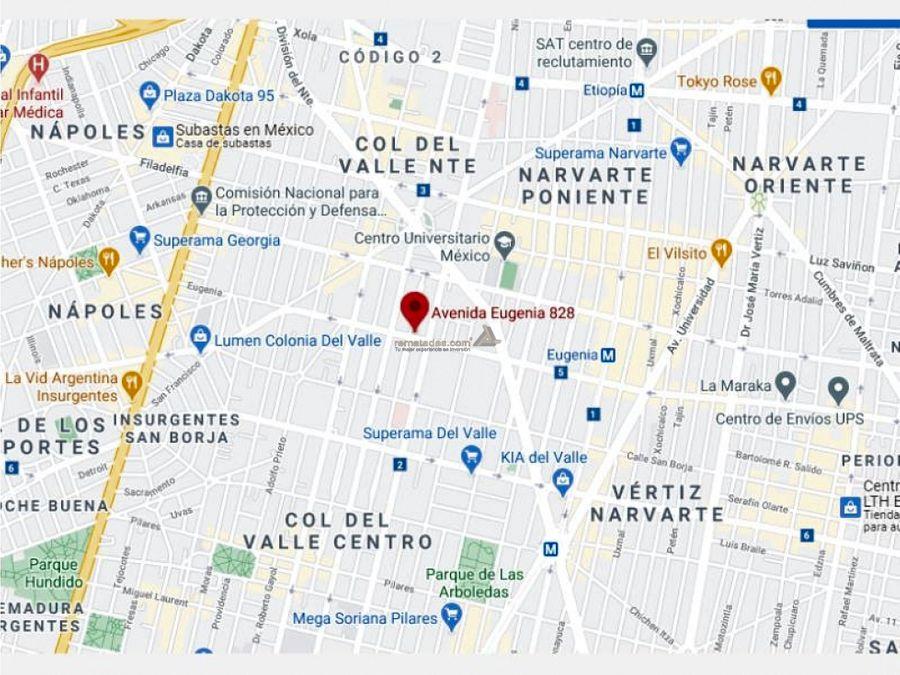 departamento en del valle centro mx20 jf0843