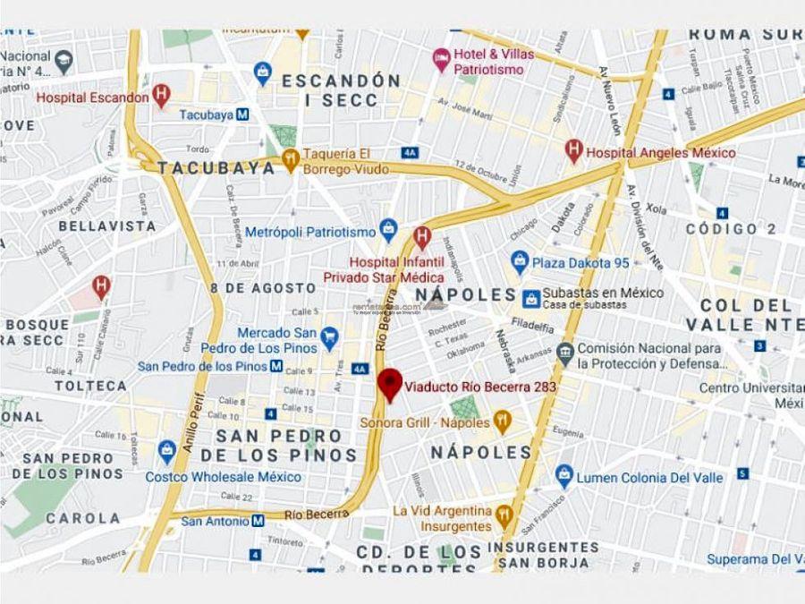 departamento en napoles mx20 jf0493