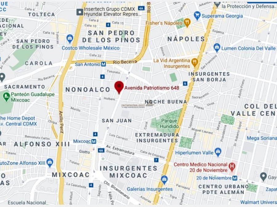 departamento en santa maria nonoalco mx20 jf0379