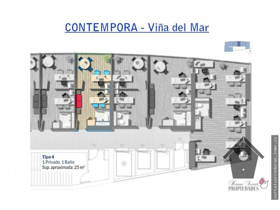 edcontempora v del mar recepcion privado 25m2