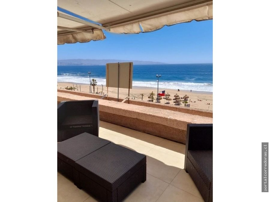 departamento frente a la playa