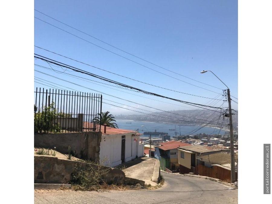 valpo venta casa terreno 362 mts2 vista al mar playa ancha
