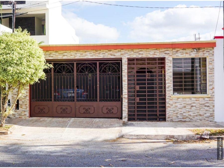 casa en venta de 1 planta de montejo ll