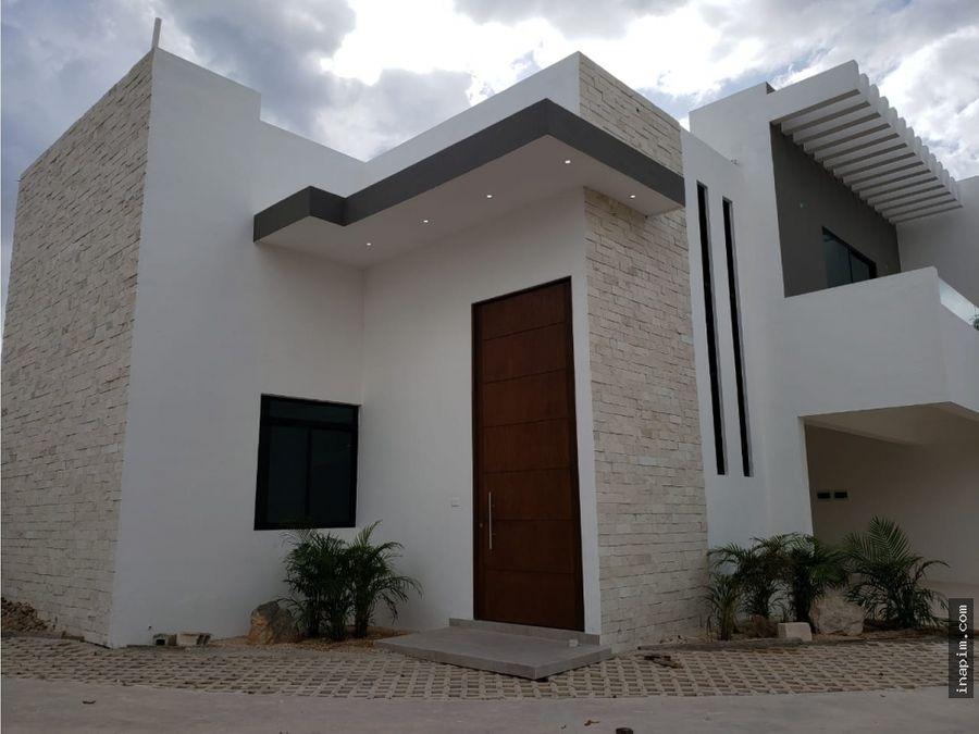 venta de casa en privada en zona norte de merida