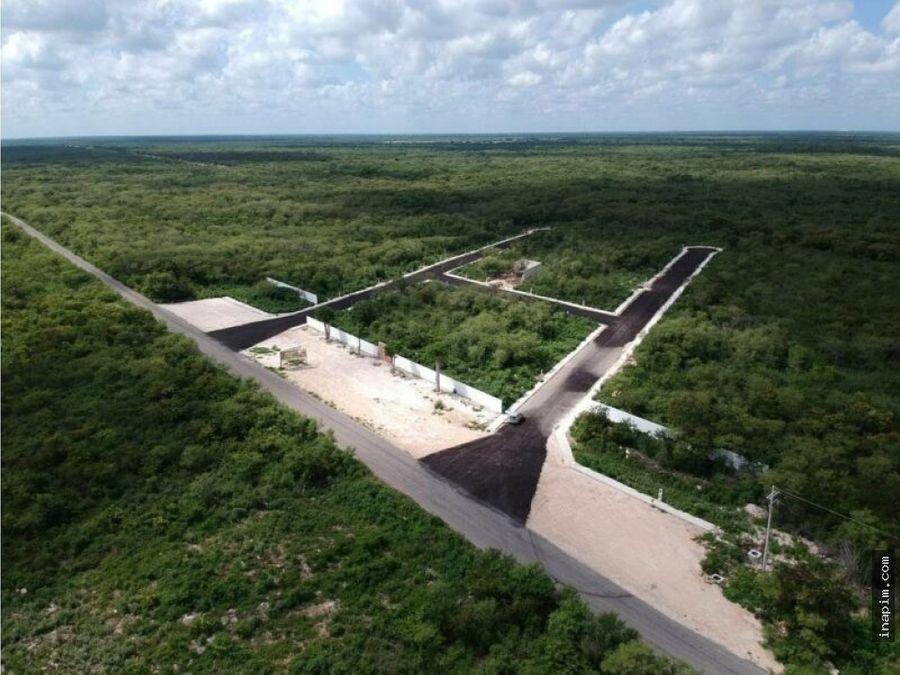terreno en venta en algea yaxcucul