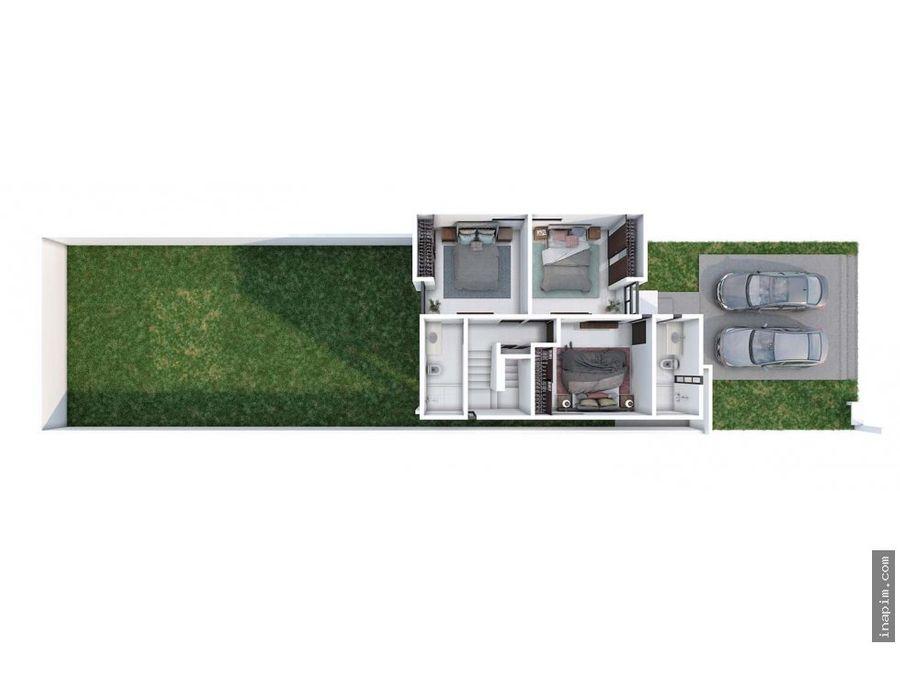casa en venta en privada zensia modb merida yuc