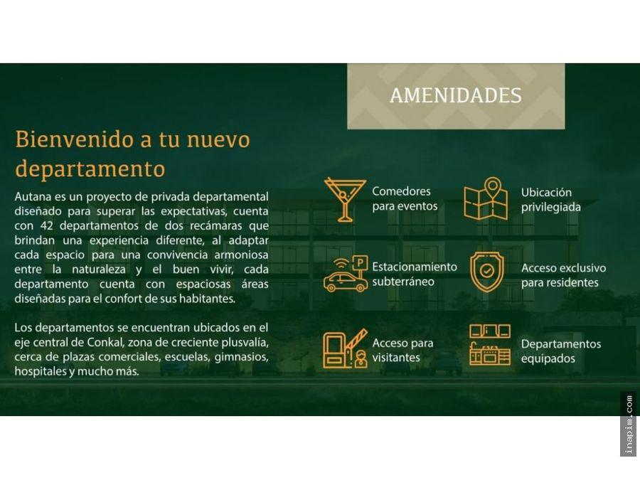 departamentos autana conkal yucatan 1396000