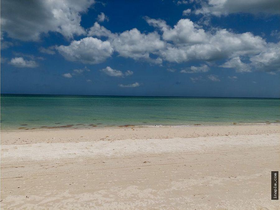 venta terrenos playa sisal frente al mar