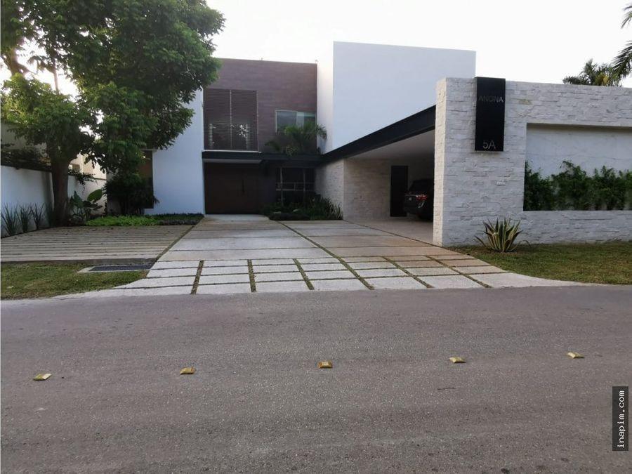 venta casa nueva merida club de golf la ceiba moderna 5 rec
