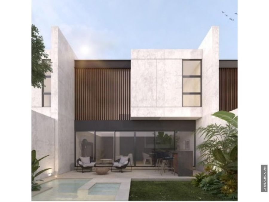 town house en temozon norte merida