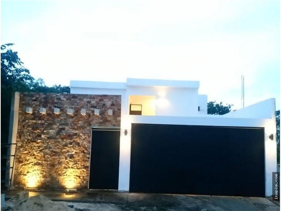 casa en venta 3 habits priv en conkal alberca