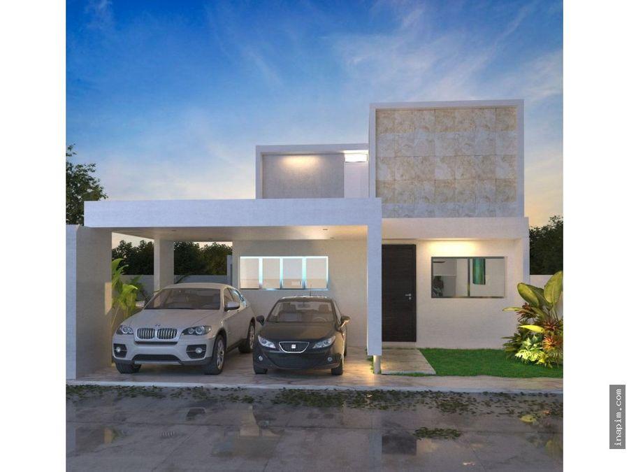 casa en privada avenida conkal