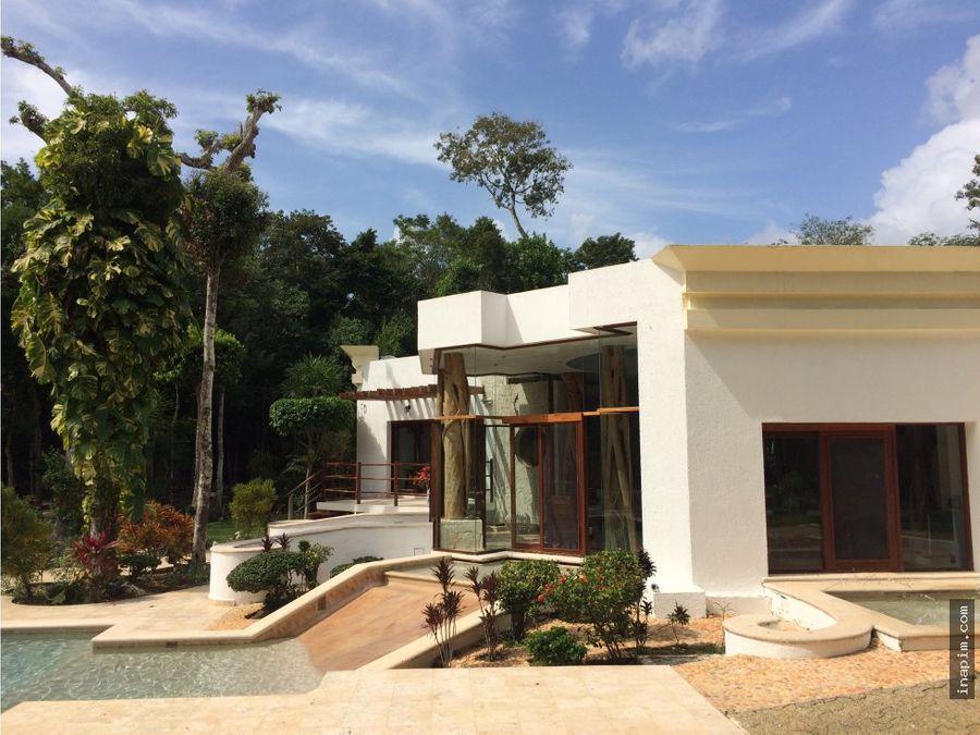 hermosa casa ecoturistica en chemuyil q roo