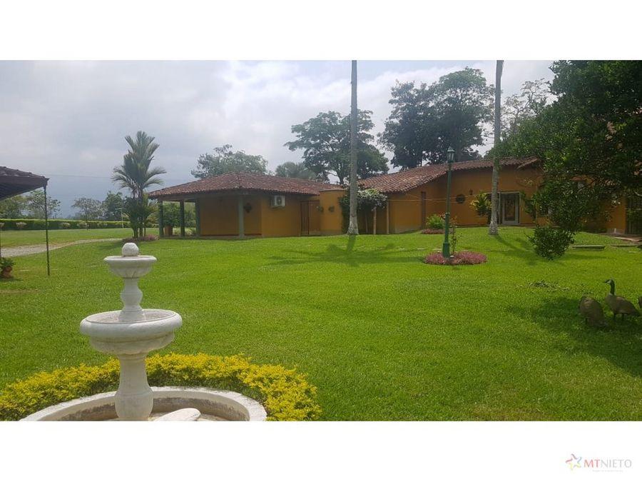 finca hotel 32532 m2 casas campestres via el caimo