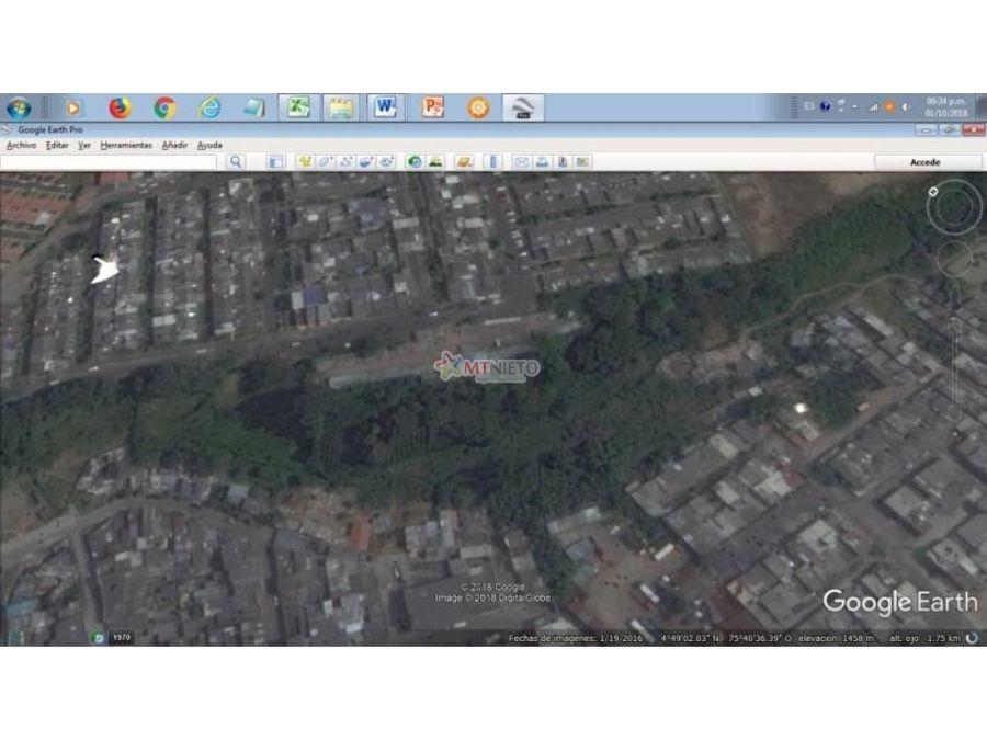 lote con licencia urbanistica 13950 mt2 dosquebradas