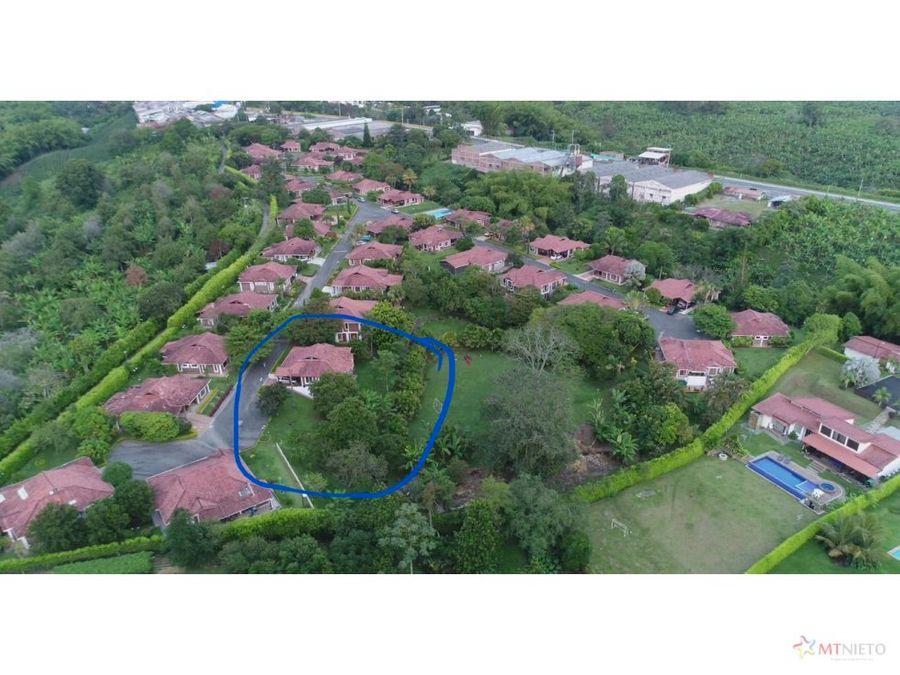 casa campestre 320 m2 lote 1200 m2 sta maria pinar