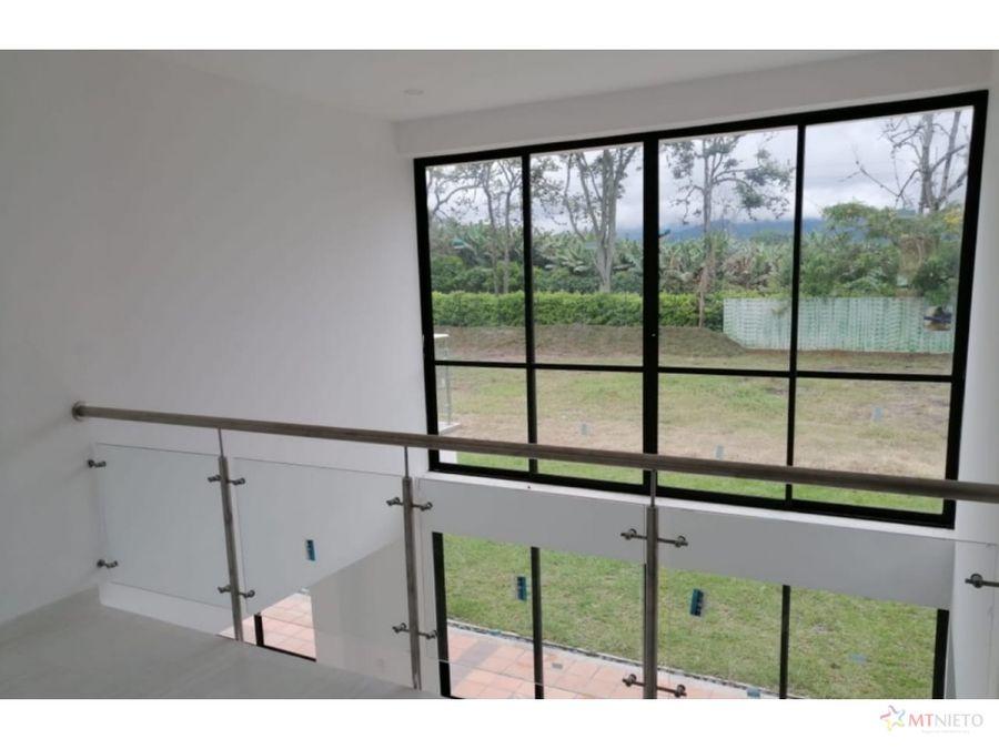 casa campestre 236 m2 lote 2005m2 conjunto cerrado el caimo