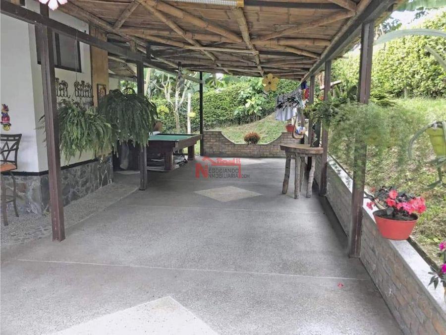 venta chalet campestre en conjunto cerrado via caimo