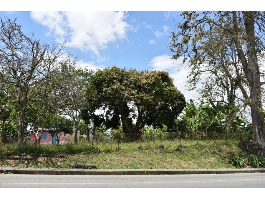 venta lote sector quimbaya via principal