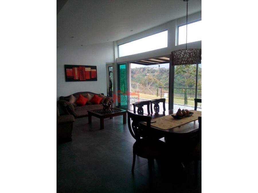 venta excelente casa campestre via caimo
