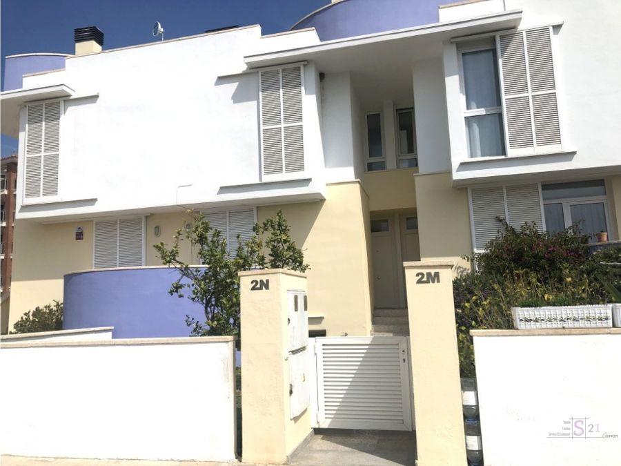 alquiler anual casa adosada de 3 dormitorios en el verger