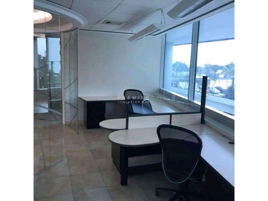 oficina amueblada en edificio corporativo 107 m2 zona 15