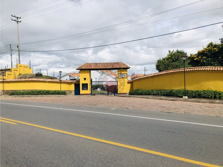 casa en tunja a la venta conjunto cerrado