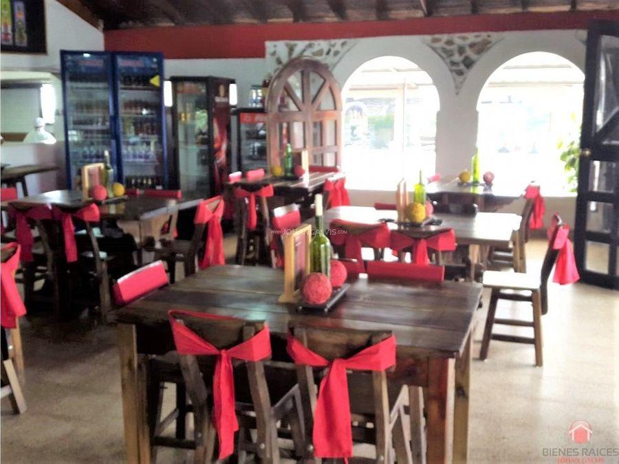 venta de restaurante y hotel en filandia