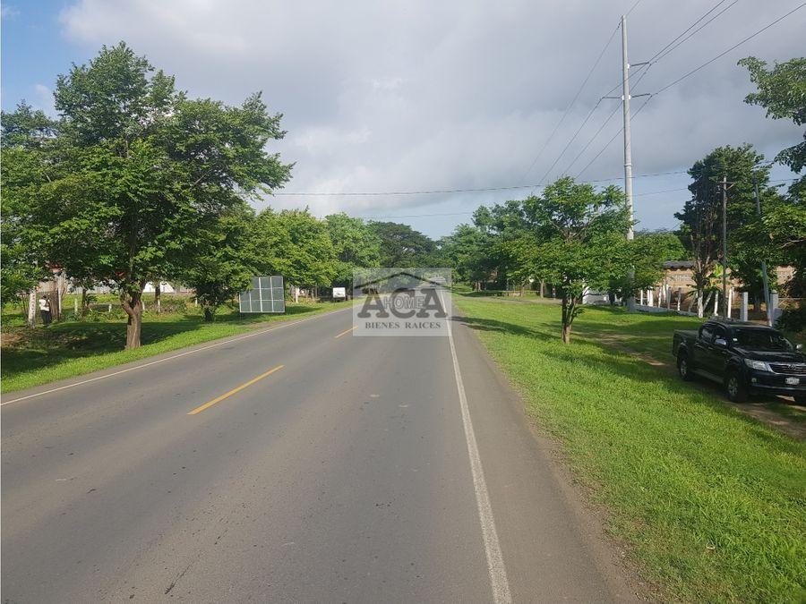 se vende 9913 varas2 sobre la carretera panamericana sur km114 rivas