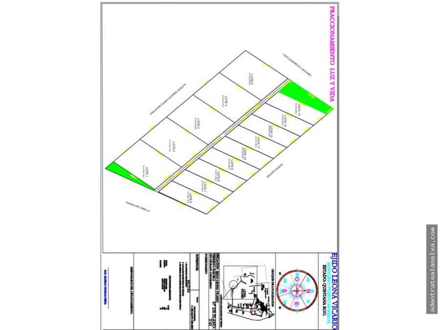venta terreno 5000m km24 ruta de los cenotes