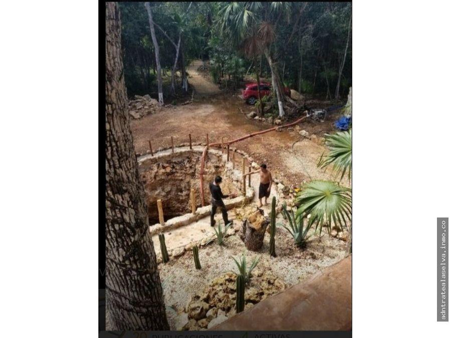 venta rancho 5h con cenote a pie de carretera