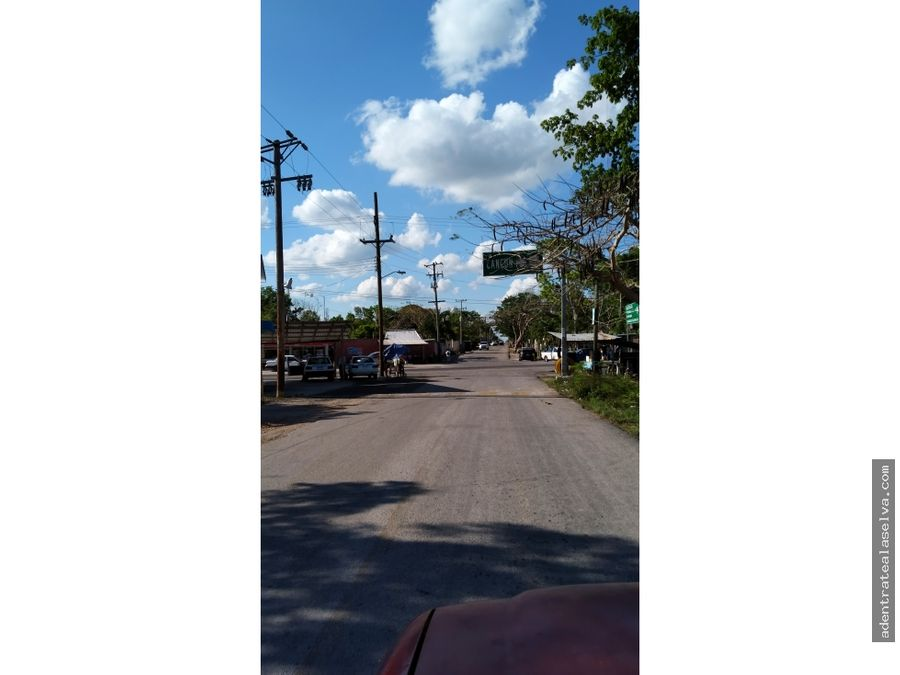 cenote con 13 hectareas a pie carretera pavimentada