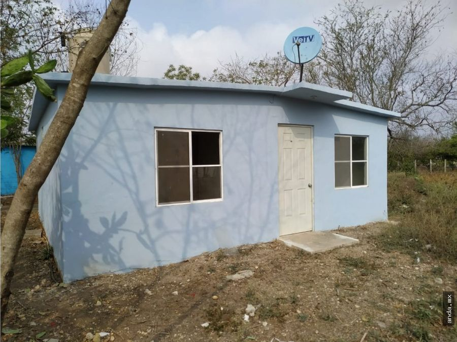 venta de casa con terreno municipio de tamuin
