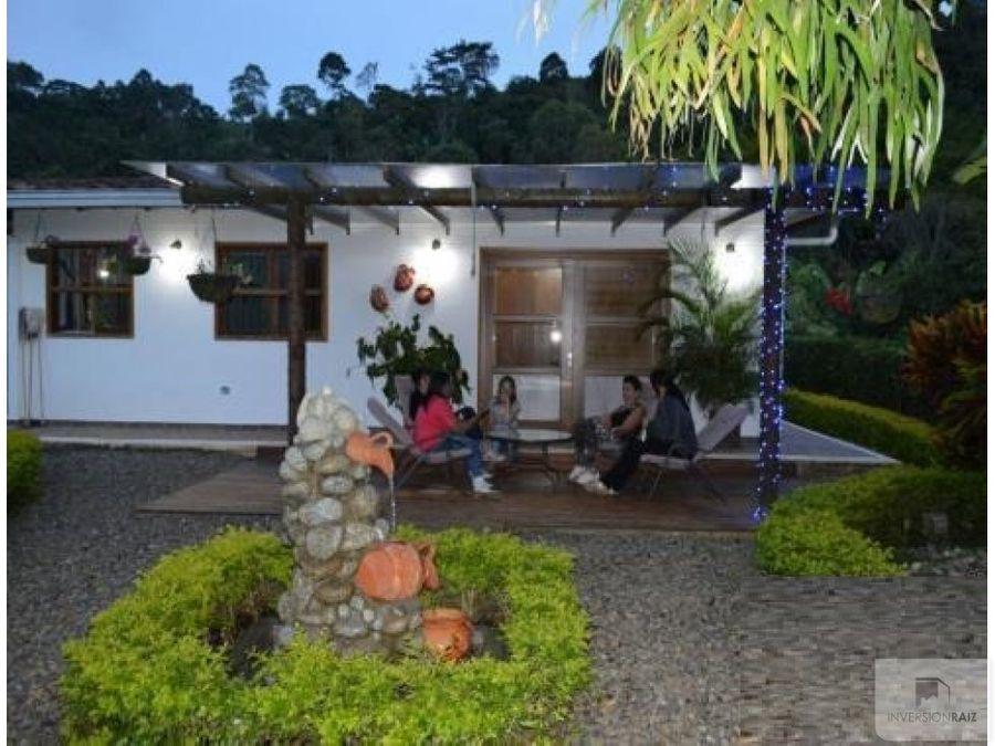casa campestre en venta vereda la solita andes