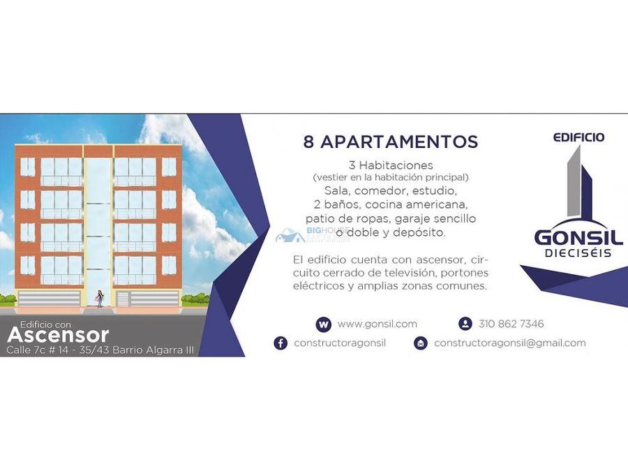 se vende apartamento algarra 3