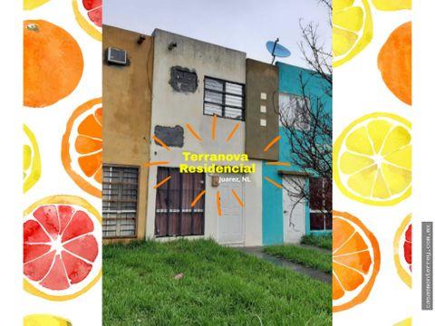 casa en venta en terranova residencial juarez nl