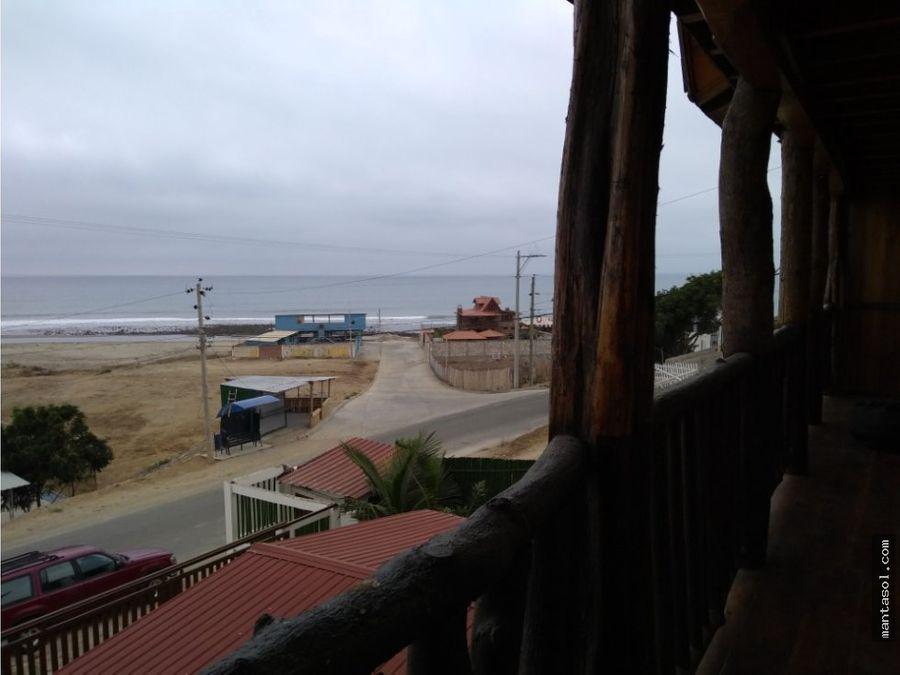 casa en venta playa sta marianita manta