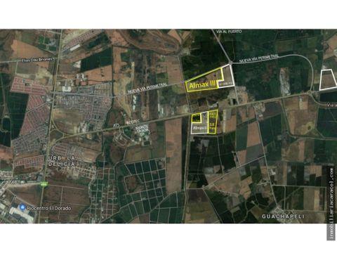 samborondon av miguel yunes 60000m2 con uso de suelo industrial