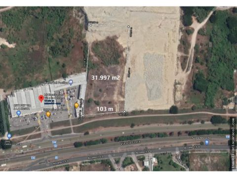 via guayaquil salinas km 14 terreno comercial 31997 m2
