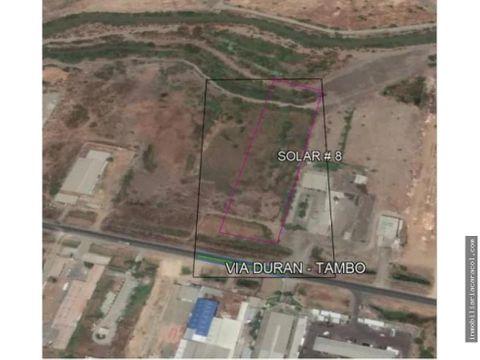 via duran tambo km 7 terreno comercial industrial de 14655 m2