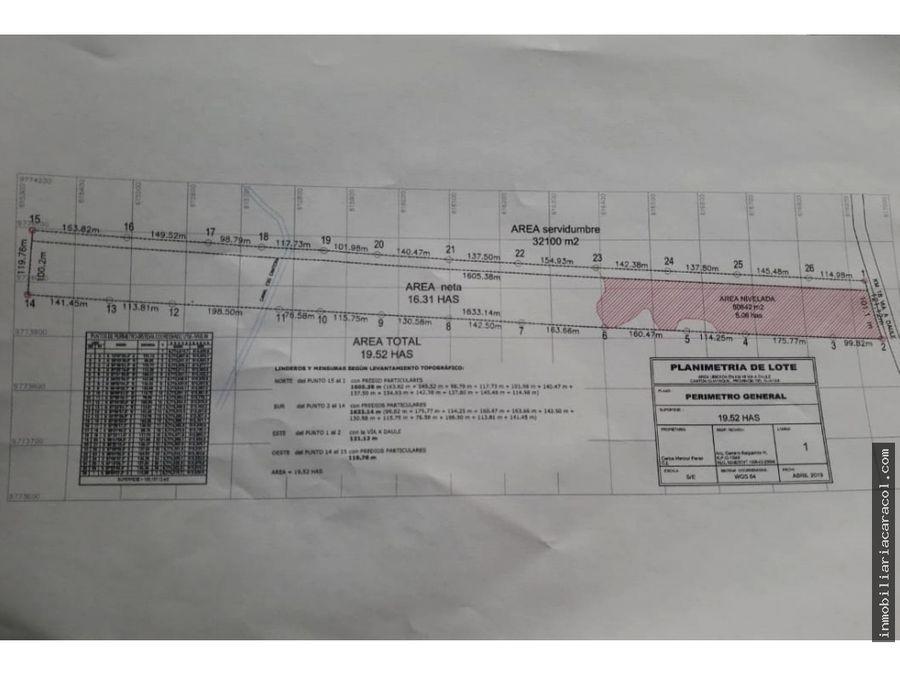 via daule km 176 se vende terreno industrial 50000 m2