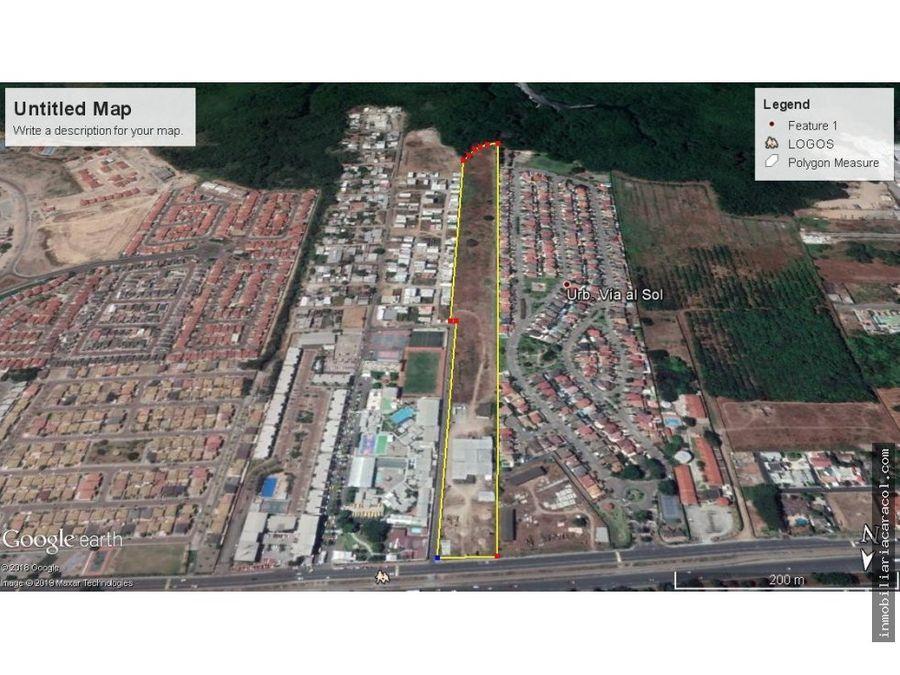 terreno en via a la costa km 145 guayaquil de 5203583 m2